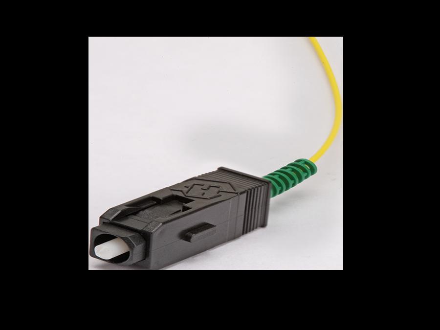 SC/APC – Single Mode -Semi-tight tube Ø 0.9mm, 9/125 μm – -SCAPC-01