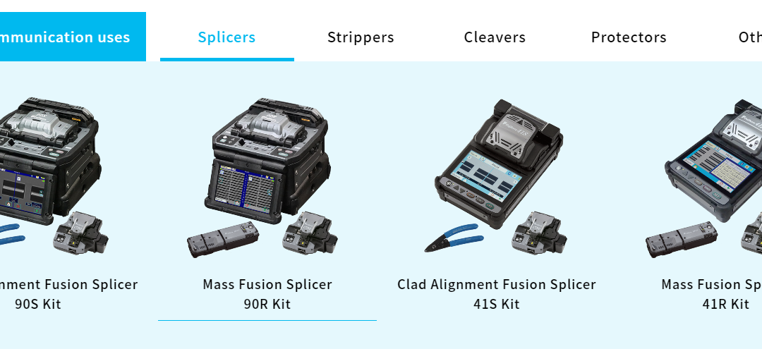 NEW dedicated Fusion Splicer Website by Fujikura Japan